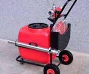 Carro de espumógeno rojo