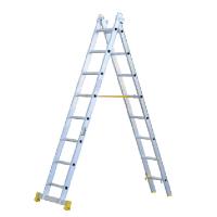 Escalera de aluminio de 2 tramos transformable